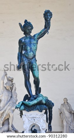 Statue of Perseus in florence italy - stock photo