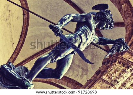 Statue of Perseus in Florence, Italy - stock photo