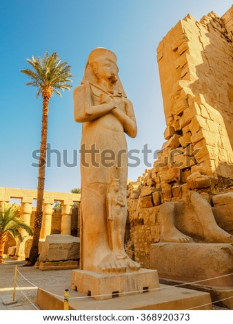 Statue of Queen Hatachepsout in the Temple of Karnak, Luxor, Egypt - stock photo