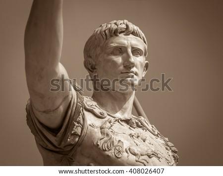 Statue of Roman Emperor Augustus  - stock photo