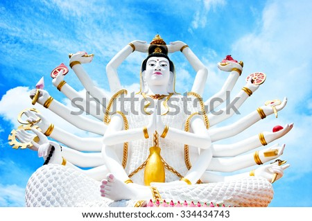 Statue of Shiva in Thailand - stock photo