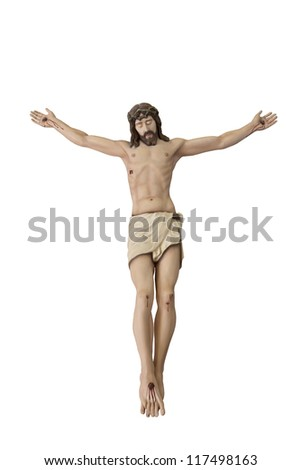Statue of The crucified Jesus Christ-Without Crucifix. - stock photo