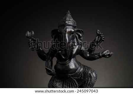 Statue of the Hindu God  Lord Ganesha - stock photo