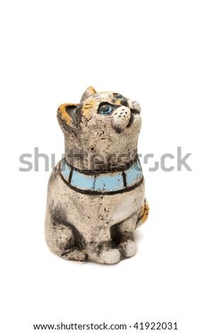 statuette cat - stock photo