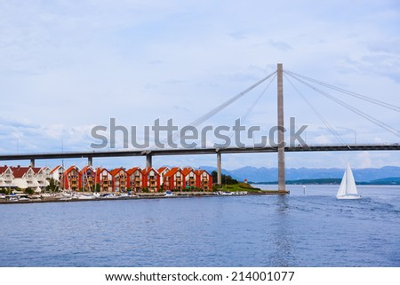Stavanger Norway - architecture and nature background - stock photo