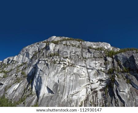 Stawamus Chief peak in Squamish, British Columbia, Canada - stock photo