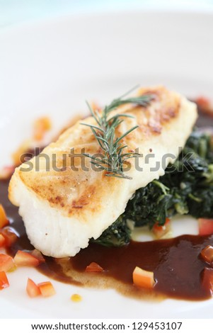 steack fish ,Fillet of snow fish - stock photo