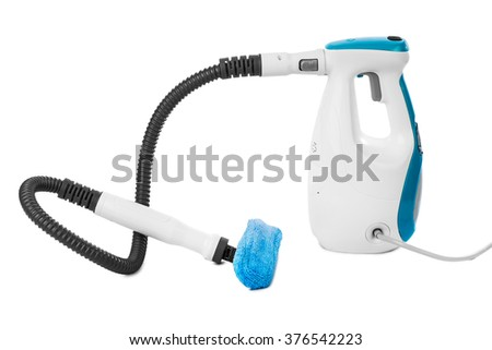 Steam cleaner isolated on white background - stock photo