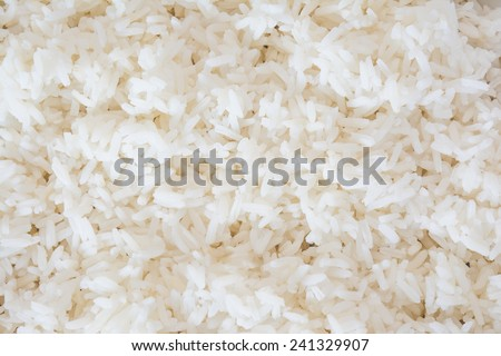Steam cooked rice background. - stock photo