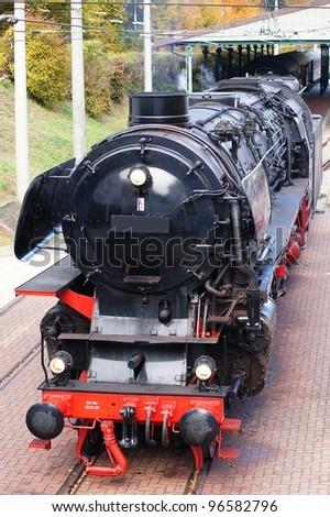 Steam engine - stock photo