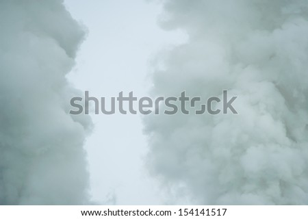 Steam power plant. Blow-off - stock photo