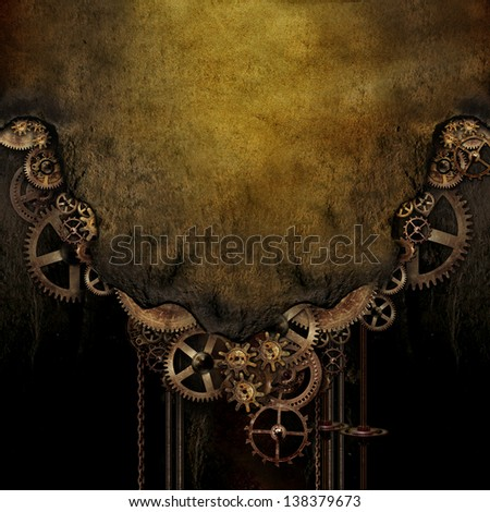 Steam Punk Background - stock photo