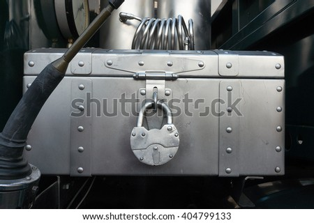 Steam punk design of truck - stock photo