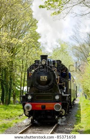 steam train, Boekelo - Haaksbergen, Netherlands - stock photo