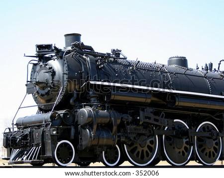 Steam train engine - stock photo