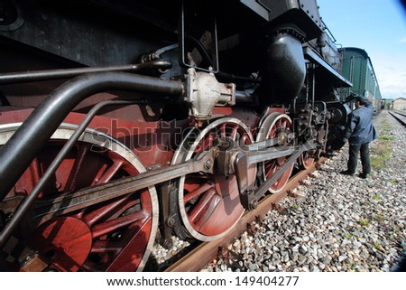 steam train val d'orcia tuscany - stock photo