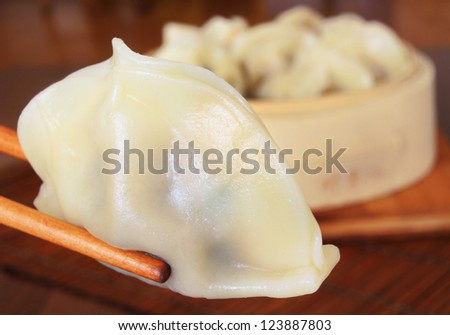 Steamed Chinese Dumpling - stock photo