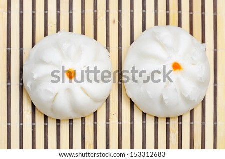 steamed dumpling - stock photo