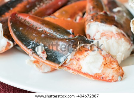 Steamed lobster nippers   - stock photo