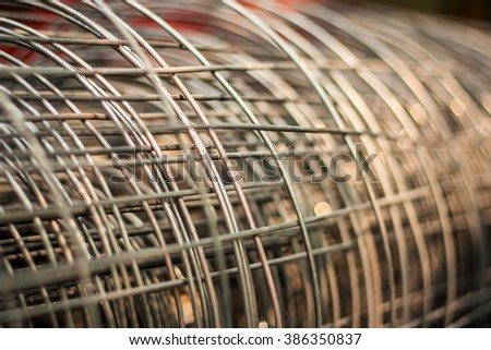 Steel bar in the construction background/texture - stock photo