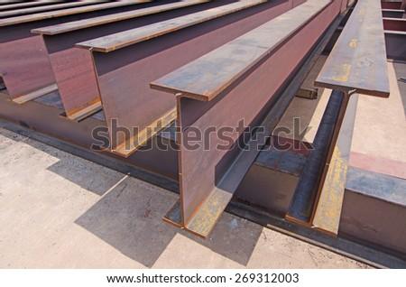 Steel beams - stock photo