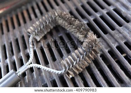 steel brush - stock photo