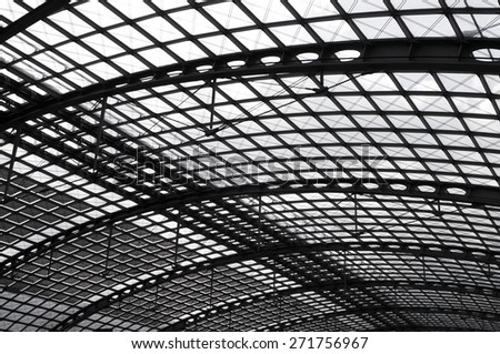 Steel construction - stock photo