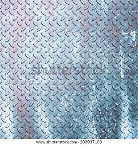 steel diamond plate texture background - stock photo
