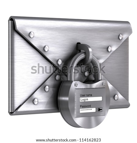Steel envelope - stock photo