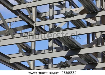 Steel framework - stock photo