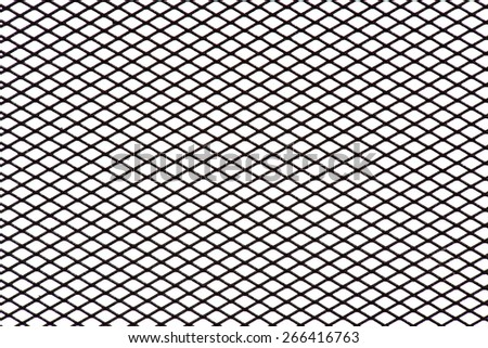 Steel grating pattern background. Horizontal - stock photo