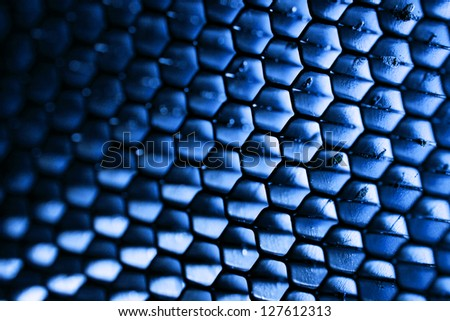 Steel honeycomb - stock photo