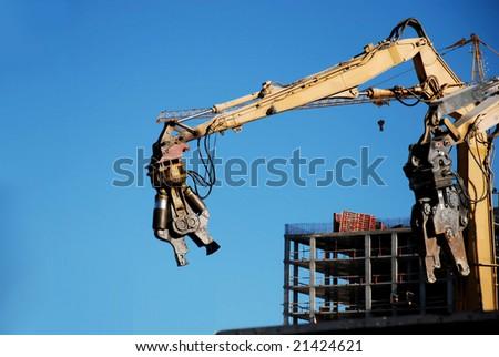 Steel jaws - stock photo