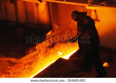 steel-maker - stock photo