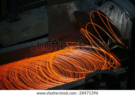 steel making in steel plant, turkey - stock photo