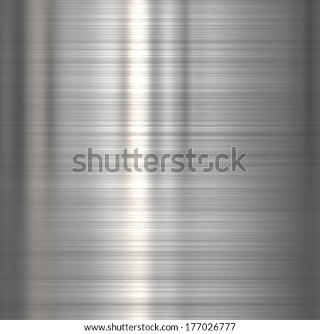 Steel metal background or texture with reflections - stock photo