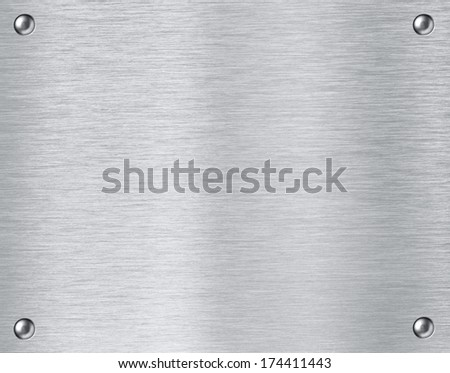 Steel metal textured plate background - stock photo