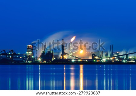 Steel Plant, Hamilton, Ontario, Canada - stock photo