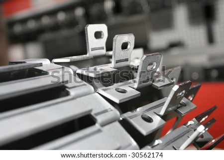 Steel product. Final product in fabric. - stock photo