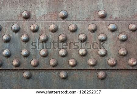 Steel Rivets - stock photo