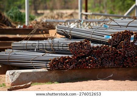 Steel rods - stock photo