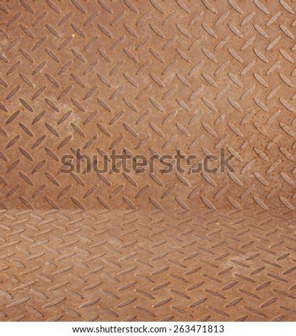 steel rust background, metal texture - stock photo