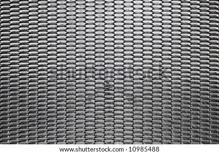 Steel security mesh - stock photo