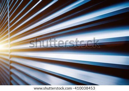 Steel Shutter door Background,shanghai china. - stock photo