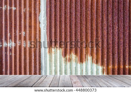 Steel sprayed red rust.Iron surface rust - stock photo