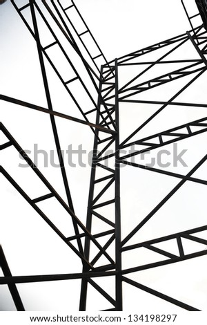 Steel structure. - stock photo