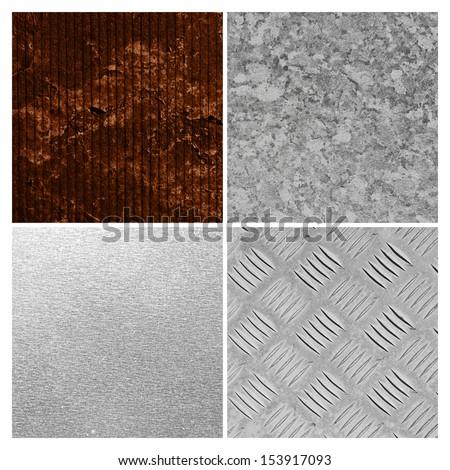 steel texture group - stock photo