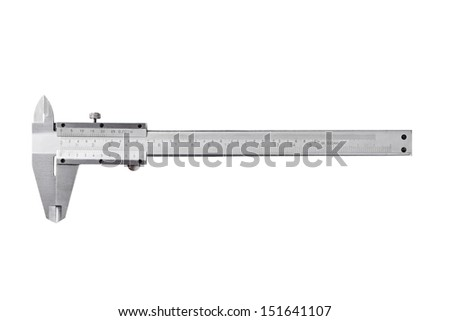 Steel Trammel on a white background - stock photo