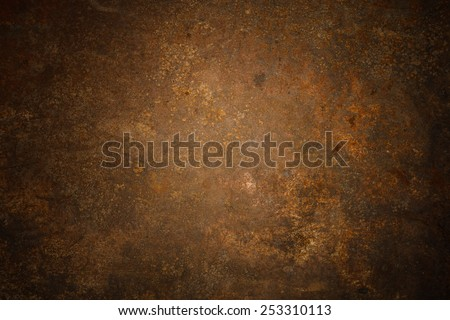 Steel walkway mats sprayed red rust.Iron surface rust - stock photo