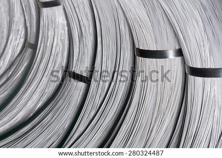Steel Wire rod - stock photo